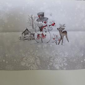 Vianočný obrus Snehuliak