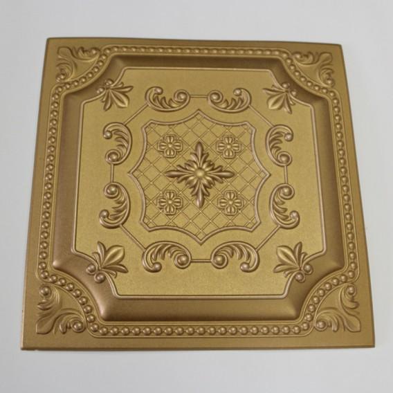Polystyrénová stropná kazeta zlatá 37 - 4kocky