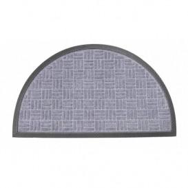Rohož polkruh 45x75 cm sivá