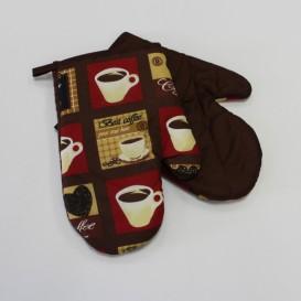 Kuchynské rukavice 2set kávové šálky