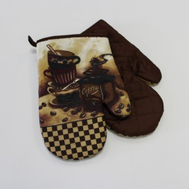 Kuchynské rukavice 2set čajník