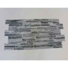 3D PVC panel bridlica sivá