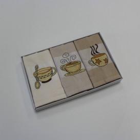 Kuchynské utierky 3ks set Káva