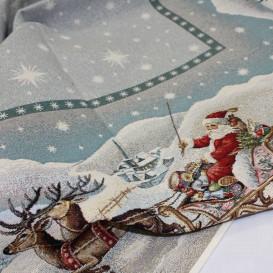 Vánoční gobelínový ubrus Cesta ze severního pólu