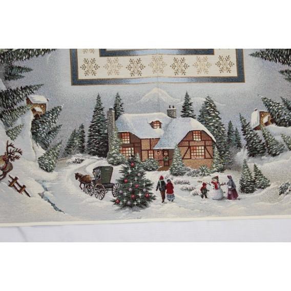 Vianočný gobelínový obrus Zasnežené Vianoce