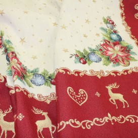 Vánoční gobelínový ubrus Vánoční růže
