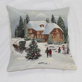 Gobelínová povlak Zasněžené Vánoce