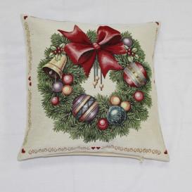 Gobelínová povlak Vánoční věnec