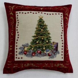 Gobelinova obliečka Vianočný stromček červený