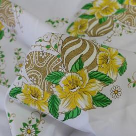 Teflónový obrus biely Veľkonočné vajcia