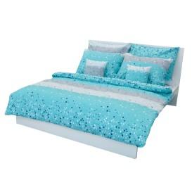 Krepové posteľné prádlo Bodky