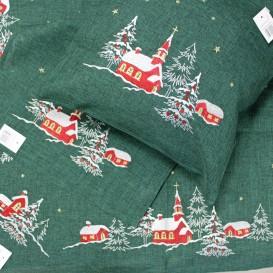 Obrus Vianočný vyšívaný zelený