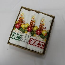 Kuchynské utierky Vianočná sviečka sada  3ks