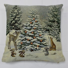 Gobelínová obliečka Vianoce v lese