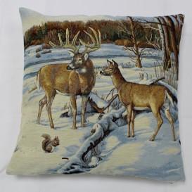 Gobelínová obliečka Zima v lese