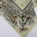 Gobelínový obrus Zasnežený les 100x100cm