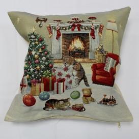 Gobelínový povlak Vánoční atmosféra 45x45