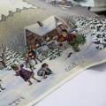 Gobelinový obrus Vianočná stanica 100x100cm