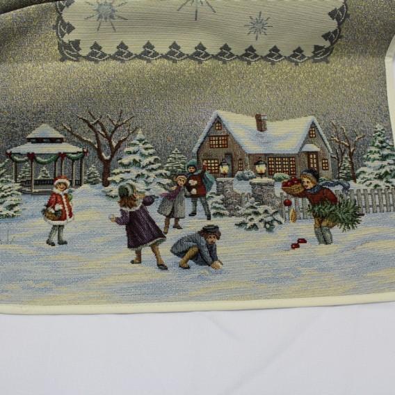 Gobelínová štóla Vianočná stanica 40x100cm