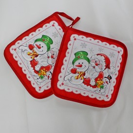 Kuchynská podložka 2ks červená Vianočná