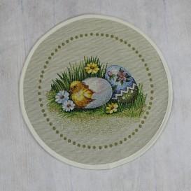 Gobelínový velikonoční ubrus Kuřátka kruh 30cm