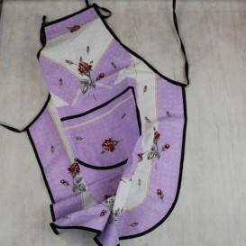 Kuchyňská zástěra Růže - fialová
