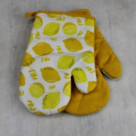 Kuchynské rukavice citróny