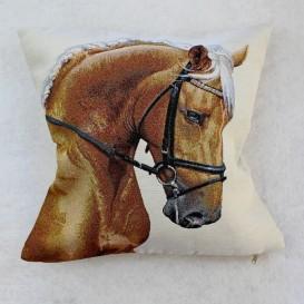 Gobelínová obliečka Hnedý kôň 45x45cm