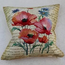 Gobelínová obliečka Béžové barokové kvety 45x45cm
