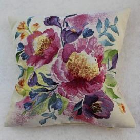 Gobelínová obliečka Akvarelové kvety 2 45x45cm