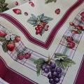 Gobelínový obrus Šťavnaté ovocie 100x100cm
