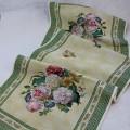 Gobelínový obrus Zelené barokové kvety 45x140cm