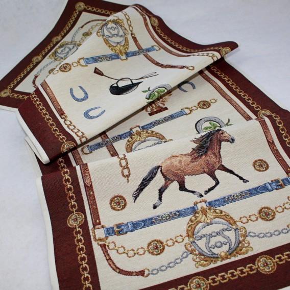 Gobelínový obrus Jazdecké pólo 40x100cm