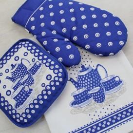 Kuchynský 3 set čajový modrý