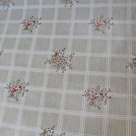PVC obrus béžový - drobné kvety š.140cm