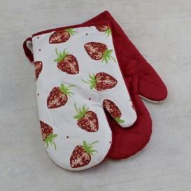Kuchynské rukavice Jahody