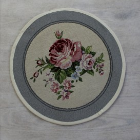 Gobelínový  ubrus Romantické ruže  kruh 27cm