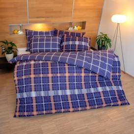 Bavlnené posteľné prádlo kocka sivo-biela 140x200 + 70x90cm