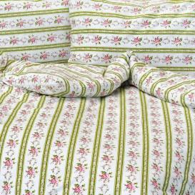Krepové posteľné prádlo Retro zelené