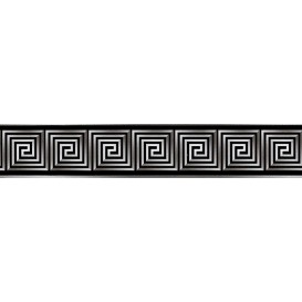 Samolepiaca bordúra Versace čierno-biela  BO51015 5,3cmx5m