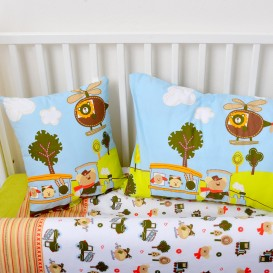Detské posteľné obliečky bavlnené Medvedík 90x135+64x45cm