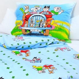 Detské posteľné obliečky bavlnené Štvorlístok 140x200+70x90cm