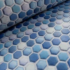 Omyvatelný 3D obklad na Modrá mozaika š.67,5cm