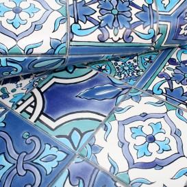 Omyvatelný 3D obklad na Modrá obkladačka š.67,5cm
