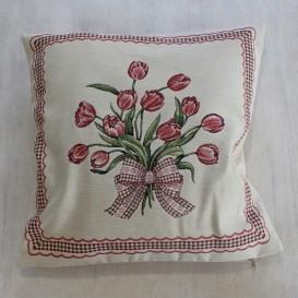 Gobelínová obliečka Romantický tulipán  45x45cm