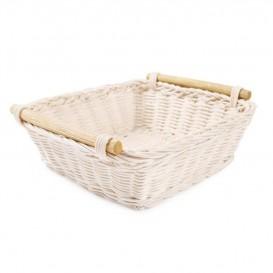 Košík ratanový s rúčkami  20x20x7cm