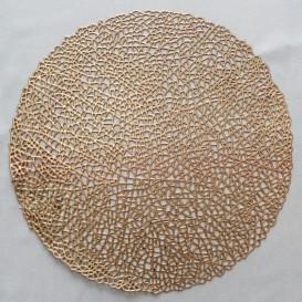 Pvc prostíraní metalické kruh 01 - pastelová ružová