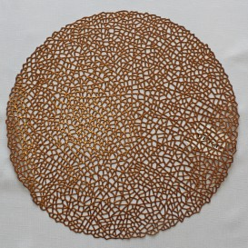 Pvc prestieranie metalické kruh 01 -medená