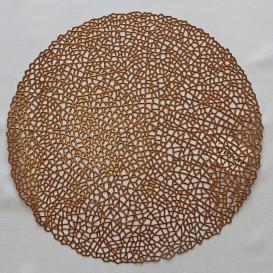 Pvc prostíraní metalické kruh 01 - mědená