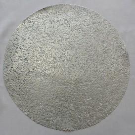 Pvc prostíraní metalické kruh 18 - stříbrná